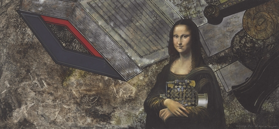 Mona Lisa and typewriter, 1996