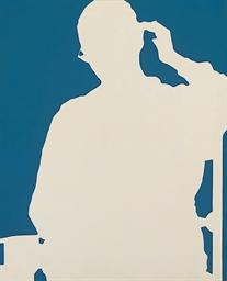 Ombre portée-bleu blanc