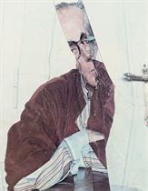 Self-portrait in crumplage