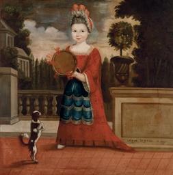 Portrait d'une fillette au tam