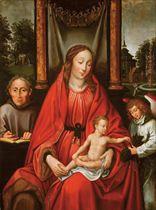 Vierge à l'enfant avec saint François et un ange