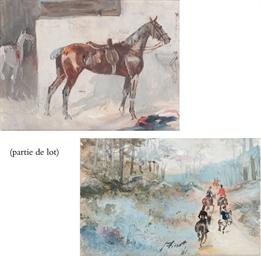Chasse à cour au bord d'un pon