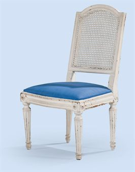 Chaise a la reine d 39 epoque louis xvi dernier quart du for Chaise 19eme siecle