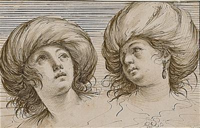 Deux têtes de jeunes femmes en