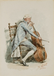 Violoncelliste assis