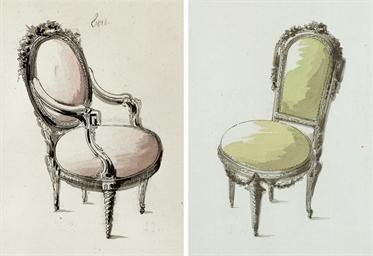 Un fauteuil et une chaise à la