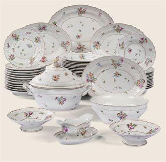 Partie de service de table en porcelaine italienne doccia - Porcelaine de table ...