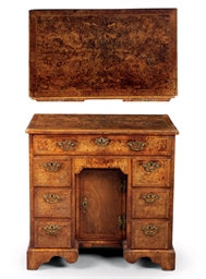 A GEORGE II WALNUT AND BURR-WA
