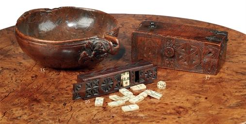 A MAHOGANY GAMING-BOX