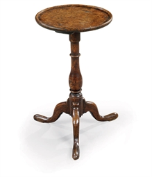 A GEORGE III BURR-OAK AND OAK