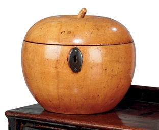 A GEORGE III FRUITWOOD APPLE-S