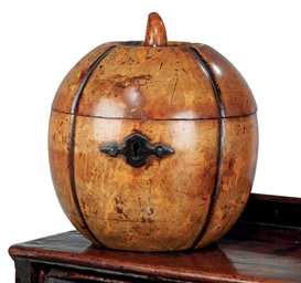 A GEORGE III FRUITWOOD MELON-S