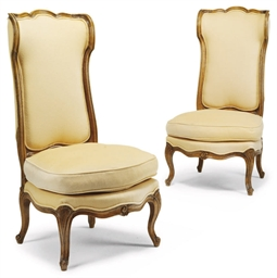 A PAIR OF FRENCH BEECHWOOD CHA