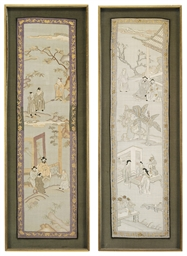 A PAIR OF CHINESE KESI PANELS