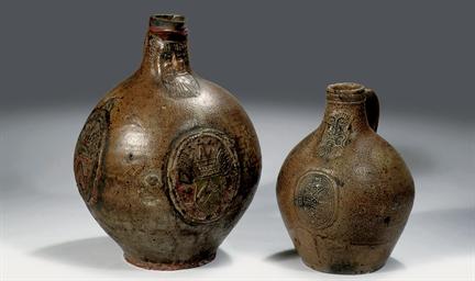 Two Frechen stoneware armorial
