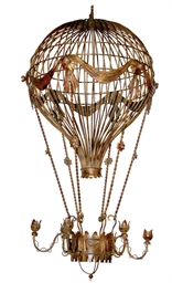 A FRENCH GILT-METAL BALLOON CH