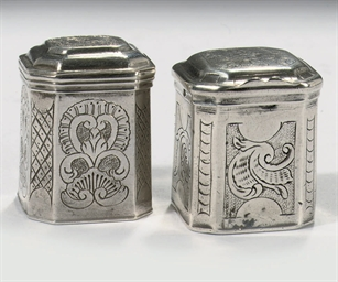 Two rare Dutch silver miniatur