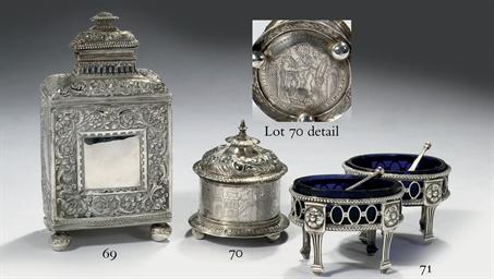 A Dutch silver wedding box, kn