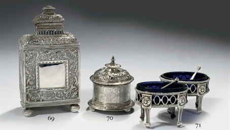 A pair of Dutch silver salt ce