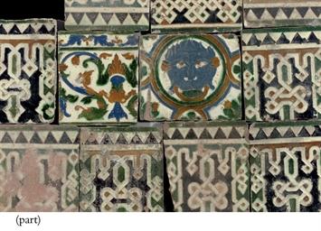 Twelve Spanish Arista tiles
