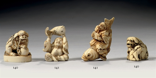 Two Japanese ivory netsuke