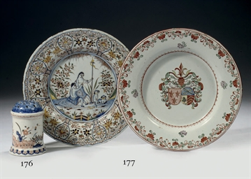 A Dutch Delft polychrome mytho