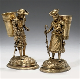 A pair of silver-gilt Butenman
