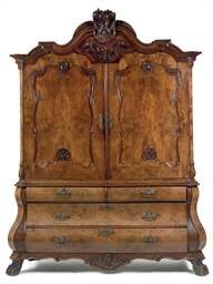 A DUTCH WALNUT CABINET