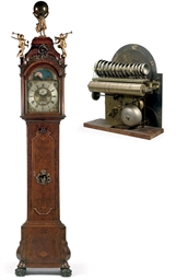 A DUTCH WALNUT AND BURR-WALNUT MUSICAL LONGCASE CLOCK