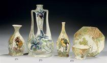 A Dutch egg-shell porcelain vase