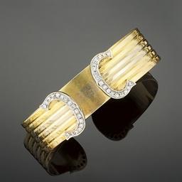 A diamond set bangle, by Carti