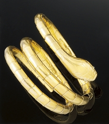 A Late 19th Century Gold Snake