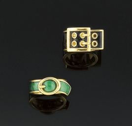 Two enamelled rings, by Kutchi