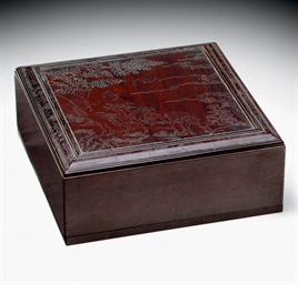 A RARE SILVER-INLAID ZITAN BOX