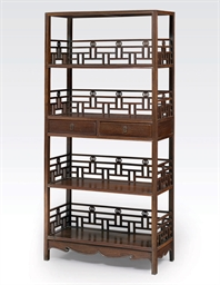 A JICHIMU FOUR-SHELF BOOKCASE,