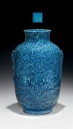 A FINE ROBIN'S EGG BLUE-GLAZED