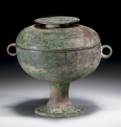A BRONZE RITUAL FOOD VESSEL AN