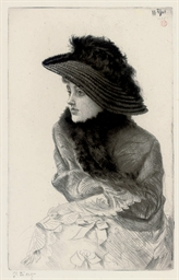 Portrait of M.N. 'La Frileuse'
