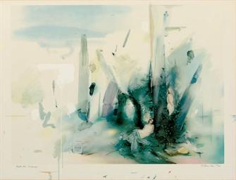 Soft Blue Landscape (Waddingto