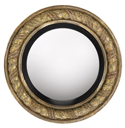A GEORGE IV CONVEX MIRROR