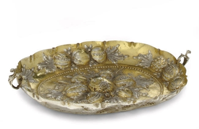 A GERMAN PARCEL-GILT SILVER DI