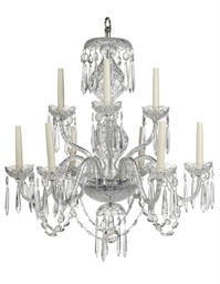 A WATERFORD GLASS NINE LIGHT C