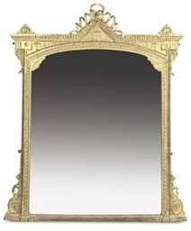 A MID-VICTORIAN GILTWOOD AND C