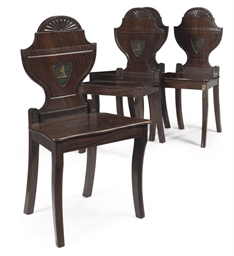 A SET OF FOUR REGENCY CARVED M
