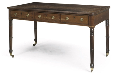 A REGENCY MAHOGANY EBONISED ST