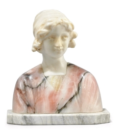 AN ITALIAN TWO-TONE ALABASTER