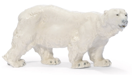 A MEISSEN MODEL OF A POLAR BEA