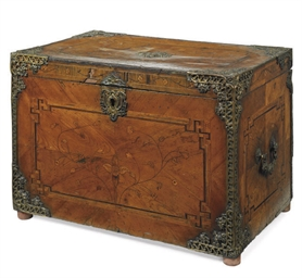 A LOUIS XV CHERRY-WOOD AND FLO
