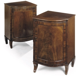A PAIR OF MAHOGANY CABINETS