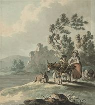 Collecting wood (illustrated); and A pastoral landscape